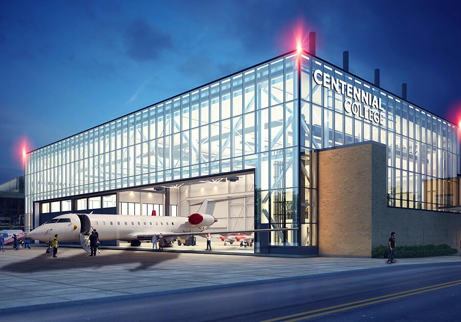 Новый аэрокосмический кампус Centennial College. Фото - 3